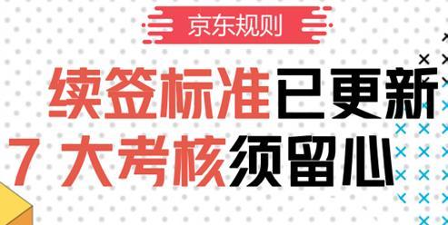 2019年京东店铺续签,划7大考核重点!