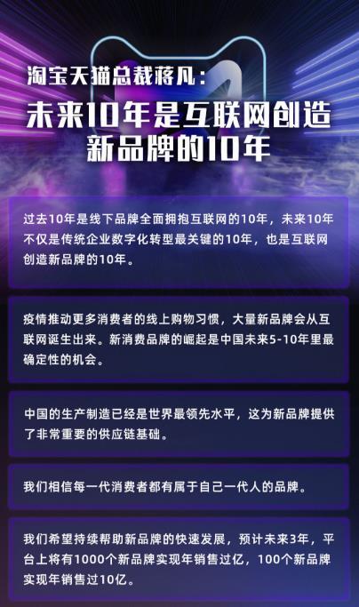 天猫总裁蒋凡:未来10年是互联网创造新品牌的10年
