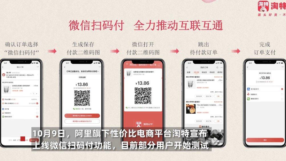 """早报:淘特上线微信扫码付;微信回应""""后台读取相册"""""""