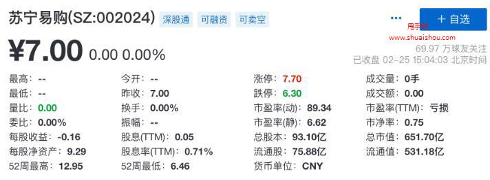 张近东拟转让苏宁易购股份20%-25%