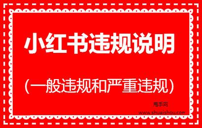 小红书一般违规和严重违规的处罚及扣分说明