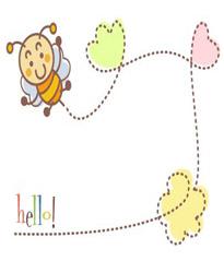 勤劳的小蜜蜂公告栏模板