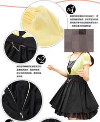 雪纺连衣裙描述细节展示