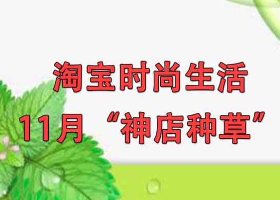 """淘寶時尚生活11月""""神店種草"""""""